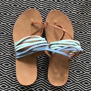Chinese Laundry Blue Brown Sandals 7